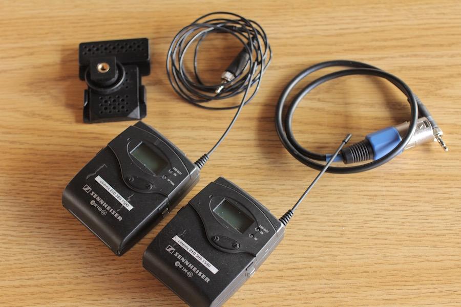 Wireless Sennheisser EW112-P Lavalier Microphones